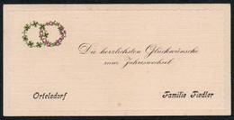C6143 - Fiedler Ortelsdorf - Glückwunschkarte Visitenkarte - Visitenkarten