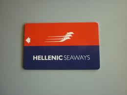 Greece Hellenic Seaways Ship Cabin Cruise Chip Member Boarding Key Card - Boats