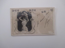 1901 Paris LIANE DE VRIES Cornice Liberty Floreale - Artisti