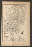 CARTE PLAN 1922 - SISTERON CITADELLE HOPITAL GARE ECOLE PRIMAIRE SUPERIEURE ABATTOIR - Cartes Topographiques