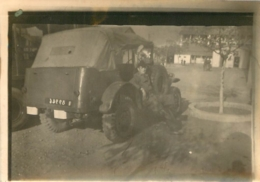 HUSSEIN DEY PHOTO ORIGINALE QUARTIER LEMERCIER 19e REGIMENT DU GENIE  AUTO MILITAIRE 9 X 6 CM - Oorlog, Militair