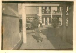 HUSSEIN DEY PHOTO ORIGINALE QUARTIER LEMERCIER 19e REGIMENT DU GENIE   9 X 6 CM - War, Military