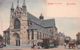 Bruxelles - L'église Notre Dame (tram & Charette) - Monumentos, Edificios