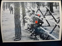 PHOTO FOTO WW2 WWII : SECTION D'ASSAUT _ S.A _ NUREMBERG _ WC Plein Air              //Elite1 - Krieg, Militär