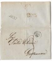 DA JESI A FERMO - 23.8.1851. - Italy