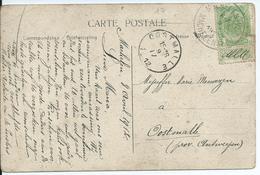 Fantasiekaart Met OCB 83 - Afstempeling MACHELEN(VL) - COBA 15 - 1893-1907 Armoiries