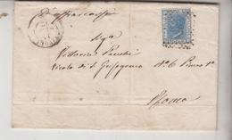 Tivoli Prefilatelia 12/1/1872 Lettera Bella Calligrafia TIMBRO MUNICIPIO VICOVARO CON FRANCO BOLLO CENT. 20 - Documents Historiques