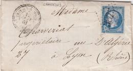 LETTRE. 1863. AIN. DE CHANEINS. PERLÉ T22 ST TREVIERS-S-MOIGNANS. GC 3875. POUR LYON  /  3 - Storia Postale
