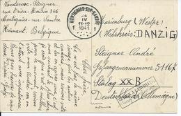 Prentkaart Van MONTIGNIES-SUR-SAMBRE 1 Naar Een Krijgsgevangene In Stalag XX B - RETOUR A L'ENVOYEUR 1941 - Guerre 40-45