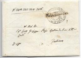 DA MACERATA A FABRIANO - 30.7.1836 - PORTO PAGATO PER 16 BAJ. - Italy