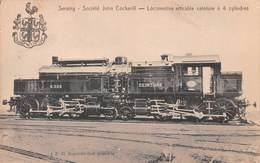Seraing -  Société John Cockerill - Locomotive Articulée Ceinture à 4 Cylindres - Trains