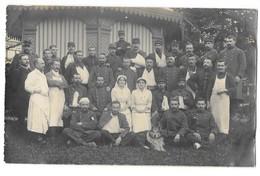 Besançon (25) Carte Photo Hopital Militaire Groupe De Bléssés Gros Plan 1914 - Besancon