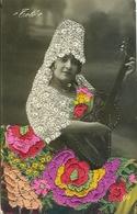 Carte Brodée Borduurwerk Geborduurde Postkaart Toto's Gitaar - Brodées