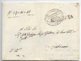 DA MACERATA A FABRIANO - 30.7.1836 - PORTO PAGATO PER 28 BAJ. - Italia
