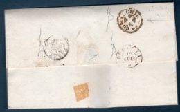 Prefilatelica 14/07/1860 Da Comacchio ( Via Ravenna ) Per Fermo - Italia