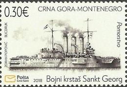 CG 2018-01 WAR SHIP, CRNA GORA MONTENEGRO, 1v, MNH - Schiffe
