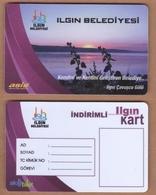 AC - MULTIPLE RIDE BUS PLASTICCARD STUDENT LAKE OF CAVUSCU ILGIN, TURKEY PUBLIC TRANSPORTATION - Titres De Transport