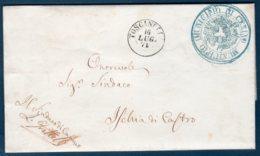 Prefilatelica 16/07/1871 Da Canino (VT) Per Ischia Di Castro - 1. ...-1850 Prephilately