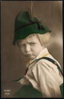 B5571 - Porträt Hübscher Kleiner Junge Mit Hut Mütze - Pretty Young Boy - Mode Vintage Coloriert - Fotografie