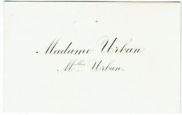 Carte Visite. Madame Urban. Melles Urban. - Cartes De Visite