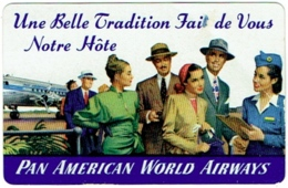 Calendrier. Aviation. Pan American World Airways. 1947-48. - Publicités