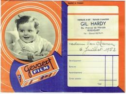 Foto/Photo. Pochette Gevaert Film. Rixensart, Gil Hardy,  1952. - Zubehör & Material