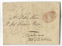 DA NAPOLI A FABRIANO - 11.2.1835. - Italy