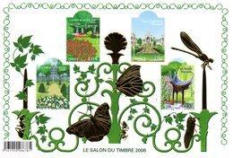 France.bloc No 120 Salon Du Timbre 2008. Jardins De France.n**. - Sheetlets