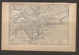 CARTE PLAN 1922 - VILLEFRANCHE BEAULIEU BARRE HOTEL MONT FLEURI VILLAS SALLES REINACH - Carte Topografiche