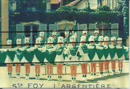 69 - STE FOY L'ARGENTIERE -  RARE PHOTO DES MAJORETTES - Musique Et Musiciens