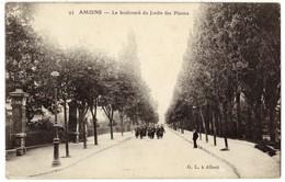 AMIENS - 80 - Le Boulevard Du Jardin Des Plantes - Troupe De Militaires Sodats - Amiens