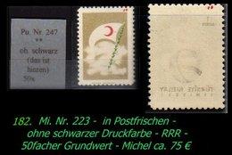 EARLY OTTOMAN SPECIALIZED FOR SPECIALIST, SEE.... Mi. Nr. 223 Fehlt Die Schwarze Druckfarbe -RRR- - 1921-... Republik