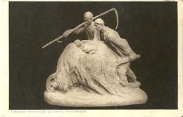 """4162 """"LA LORO RICCHEZZA - SCULTURA DI CHARLES VAN WIJK """" CARTOLINA POST. ORIG. SPEDITA 1926 - Sculptures"""