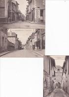 Cpa Dept 35 - CHATEAUGIRON - Lot De 3 Cartes - La Rue Du Porche-la Grande Rue-la Ruelle Et La Porte D'entrée (voir Scan) - Châteaugiron