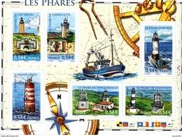 France.bloc No 114 De 2007.les Phares.n**. - Sheetlets