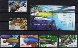 MARINE LIFE, 2018, MNH, FISH, CRUSTACEANS, CRABS, 6v+S/SHEET - Fishes