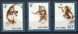 CHINA / CHINE 1979 / Y&T N° 2228 / 2229 / 2230. MNH. Rating (cote) 11.5€. Manchou Tiger (Tigre Manchou) VG/TB - 1949 - ... República Popular