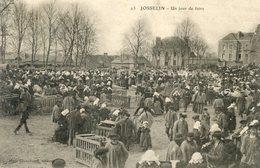 56   JOSSELIN UN JOUR DE FOIRE - Josselin