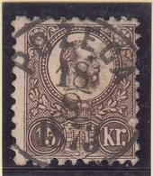 Hungary / King Franz Josef 15 Kr. / Pozega Croatia 18 8 1873 / Michel 12 A - Ungarn