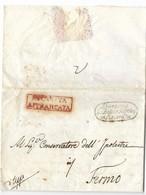 DA MACERATA A FERMO - 22.11.1839 - PORTO FRANCO. - Italy