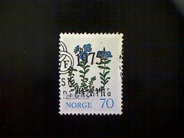Norway (Norge), Scott #627, Used (o), 1973, Flowers, Veronica Fruticans, 70ø, Multicolored - Norway