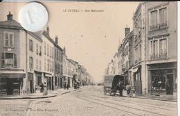 42 - Très Belle Carte Postale Ancienne De  LE COTEAU  Rue Nationale - Roanne