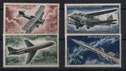 Gabon - 1962 - Poste Aérienne PA N°Yv. 7 à 10 - Avions - Neuf Luxe ** / MNH / Postfrisch - Flugzeuge
