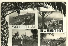 "4168 ""SALUTI DA BUSSANA"" 4 VEDUTE- CARTOLINA POST. ORIG. SPEDITA - Saluti Da.../ Gruss Aus..."