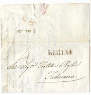 DA RIMINI A FABRIANO - 2.2.1842. - Italia