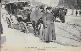 PARIS  NOUVEAU : Les Femmes Cocher  Mme. Véron - Transport Urbain En Surface