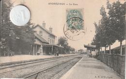42 - Très Belle Carte Postale Ancienne De ANDREZIEUX  La Gare - Autres Communes