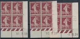 CR-202: FRANCE: Lot Avec CD Du N°139**(3) - ....-1929