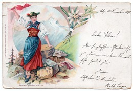 GERMANY-FOLKLORE-1898-LITHO - Costumi