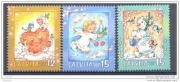 LATVIA 2004 Christmas Set Of 3 MNH / **.  Michel 624-26 - Lettonie
